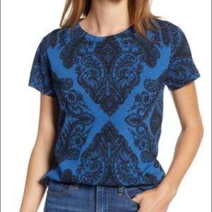 NWT Lucky Brand Bandana Print T-Shirt